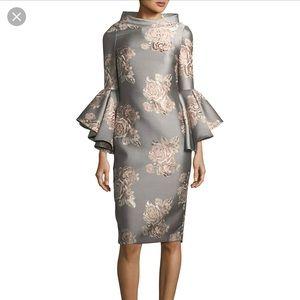 NWT Badgley Mischka funnel neck dress